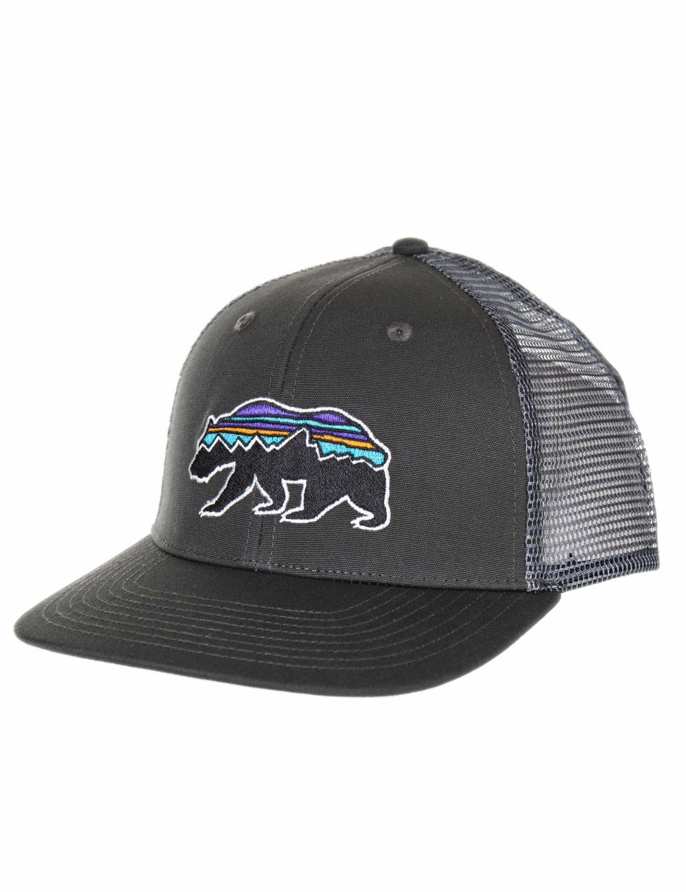 Patagonia Fitz Roy Bear Trucker Hat - Forge Grey - Accessories from ... 82a3ffe32b6a