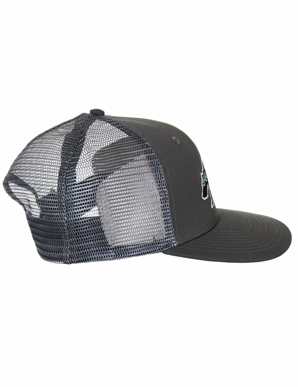 941de70f7e1c2 Patagonia Fitz Roy Bear Trucker Hat - Forge Grey - Accessories from ...