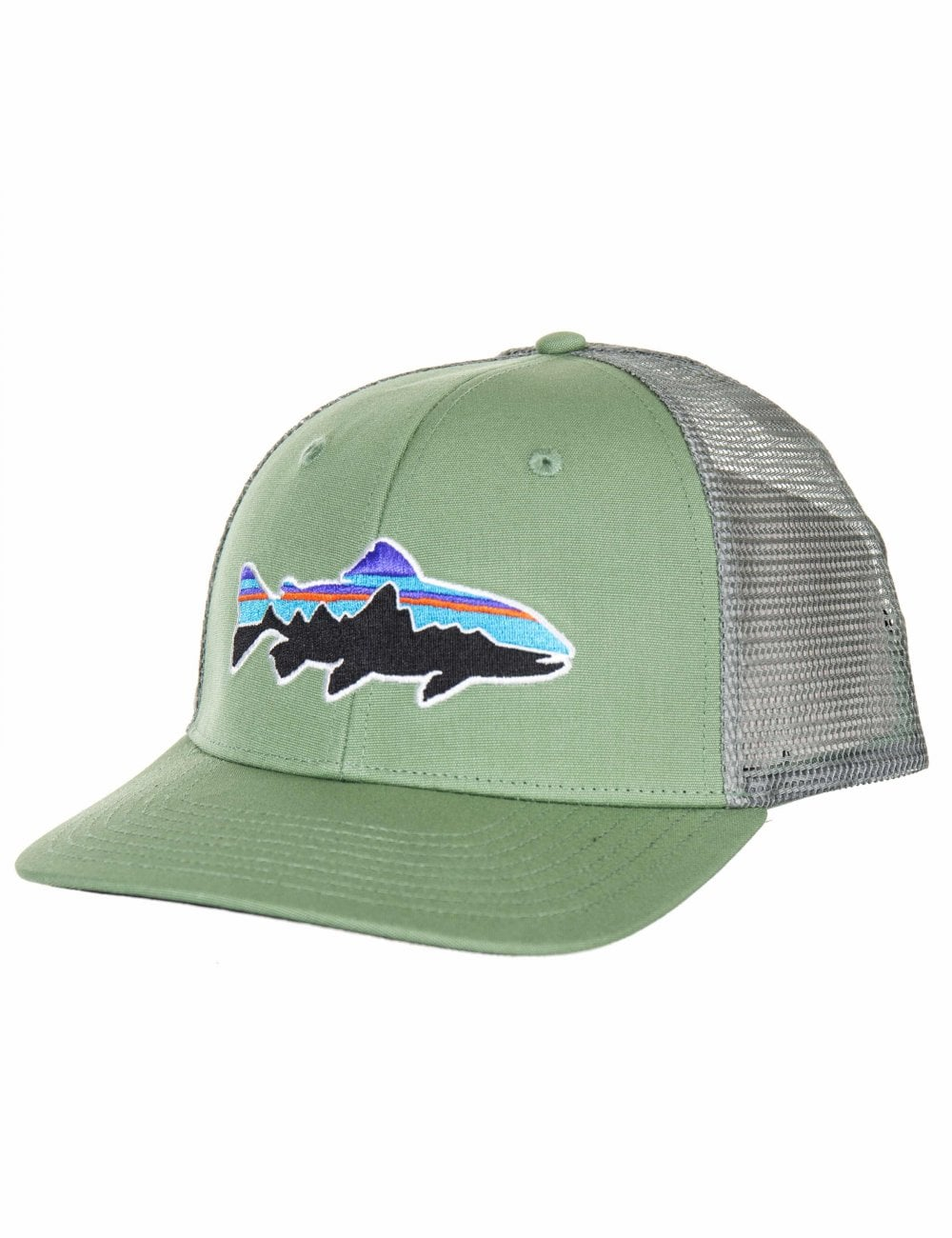 7048a5ec2cc92 Patagonia Fitz Roy Trout Trucker Hat - Matcha Green - Accessories ...