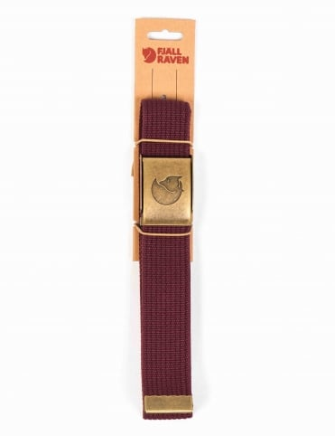 Canvas Belt Brass 4cm - Dark Garnet