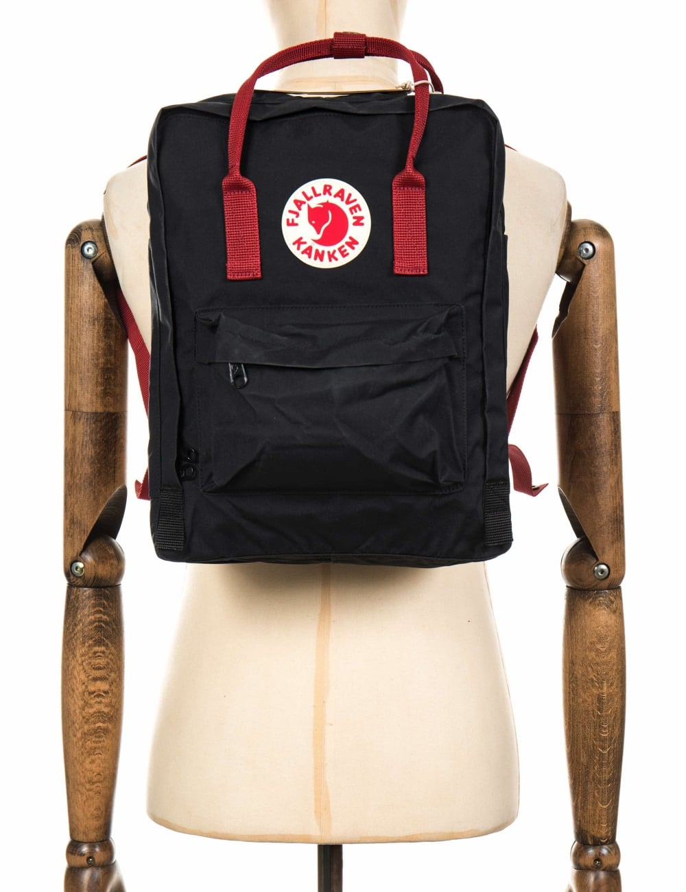 543f9d7cda8 Fjallraven Kanken Classic Backpack - Black-Ox Red - Accessories from ...