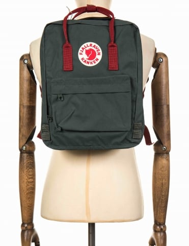 Kanken Classic Backpack - Forest Green-Ox Red