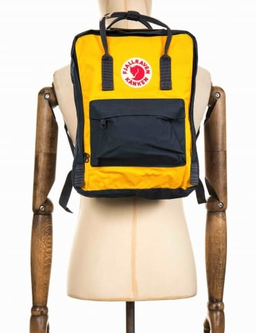 Kanken Classic Backpack - Navy/Warm Yellow