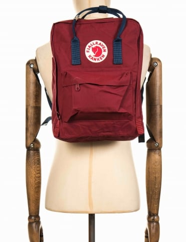 Kanken Classic Backpack - Ox Red/Royal Blue