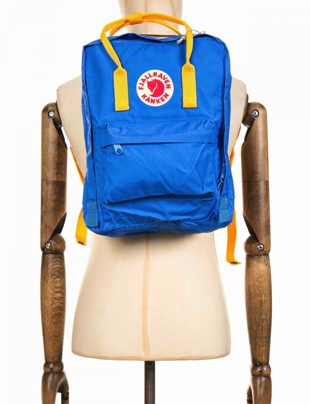 f66a7df89 Fjallraven Kanken Classic Backpack - UN Blue-Warm Yellow ...