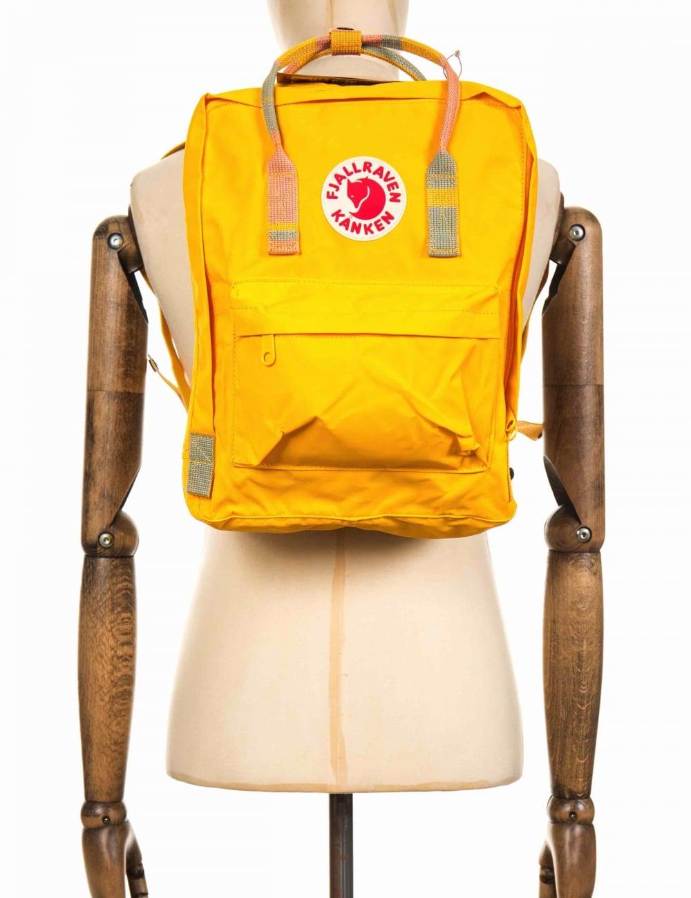 707f1ae9 Fjallraven Kanken Classic Backpack - Warm Yellow/Random Blocked ...