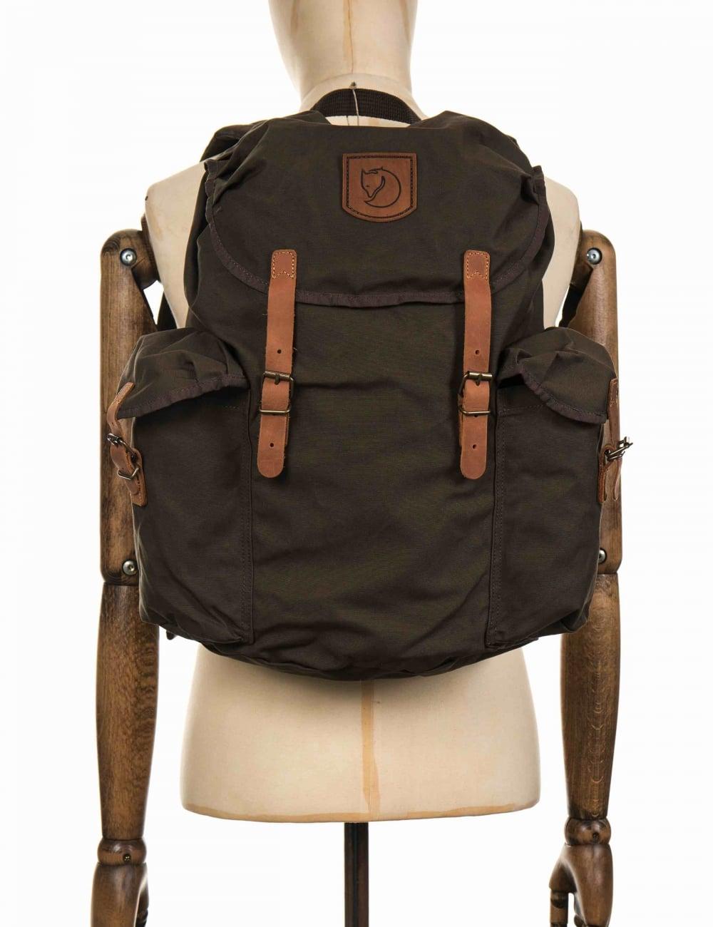 dd72f964f59 Fjallraven Ovik Backpack 20L - Dark Olive - Accessories from Fat ...
