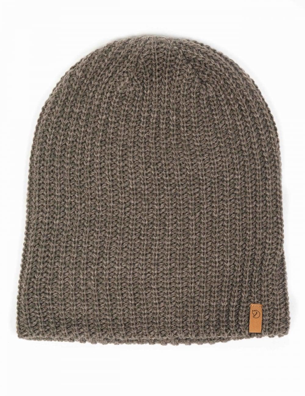 3eba04fa2e4814 Fjallraven Ovik Melange Beanie Hat - Mountain Grey - Accessories ...
