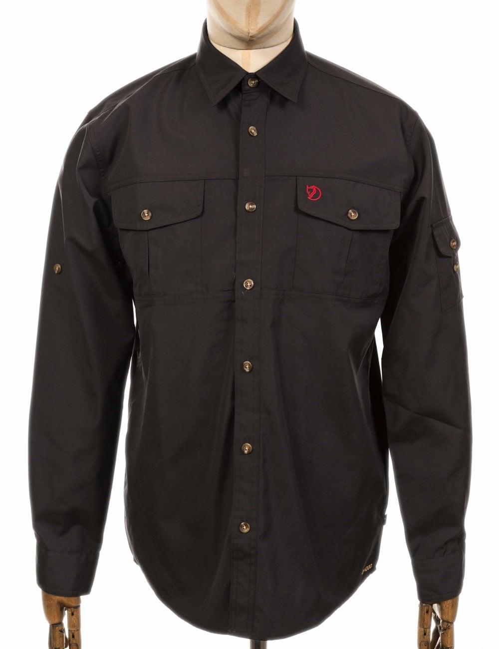 fjallraven singi trekking shirt dark grey clothing
