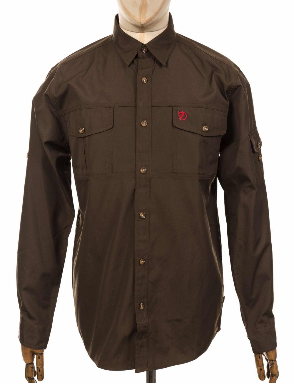 b6c878ddc36 Fjallraven Singi Trekking Shirt - Dark Olive - Clothing from Fat ...