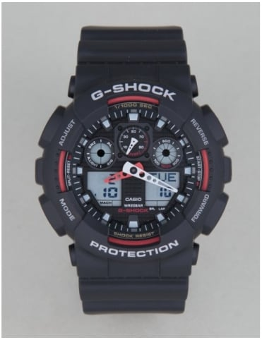 G-Shock GA-100-1A4ER Watch - Black/Red