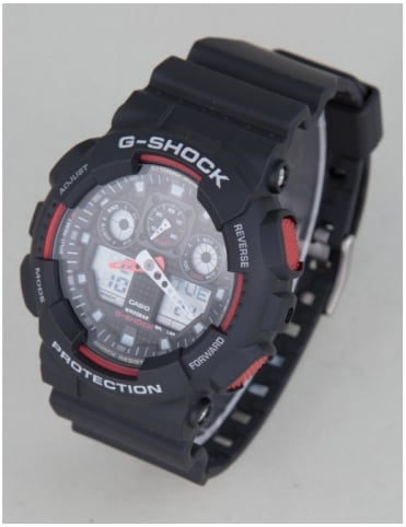 GA-100-1A4ER Watch - Black/Red