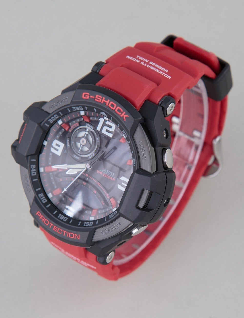 572d29730ef68 G-Shock GA1000-4B Watch - Red - Accessories from Fat Buddha Store UK