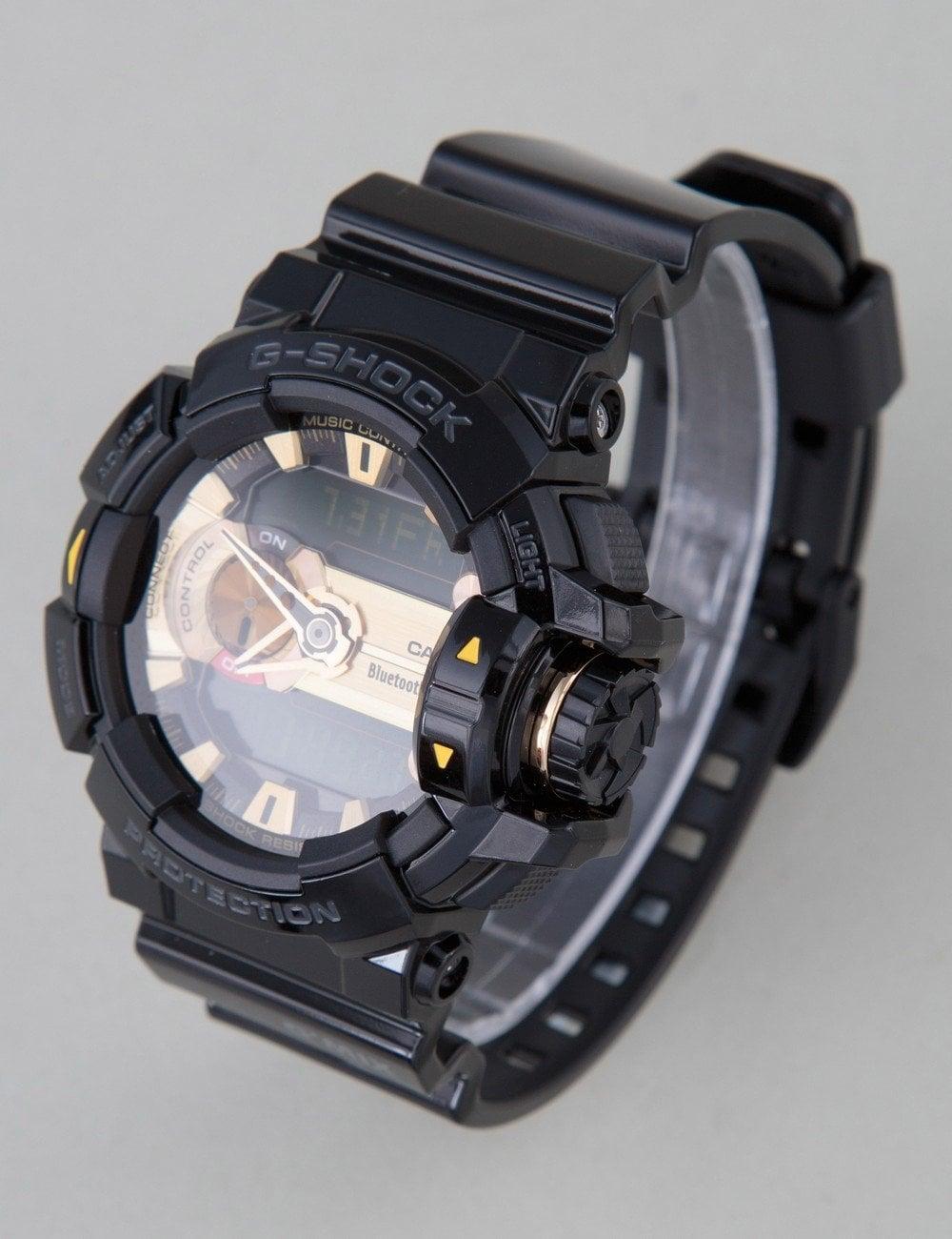on sale 98db7 0b444 GBA-400-1A9ER Watch - Black/Gold