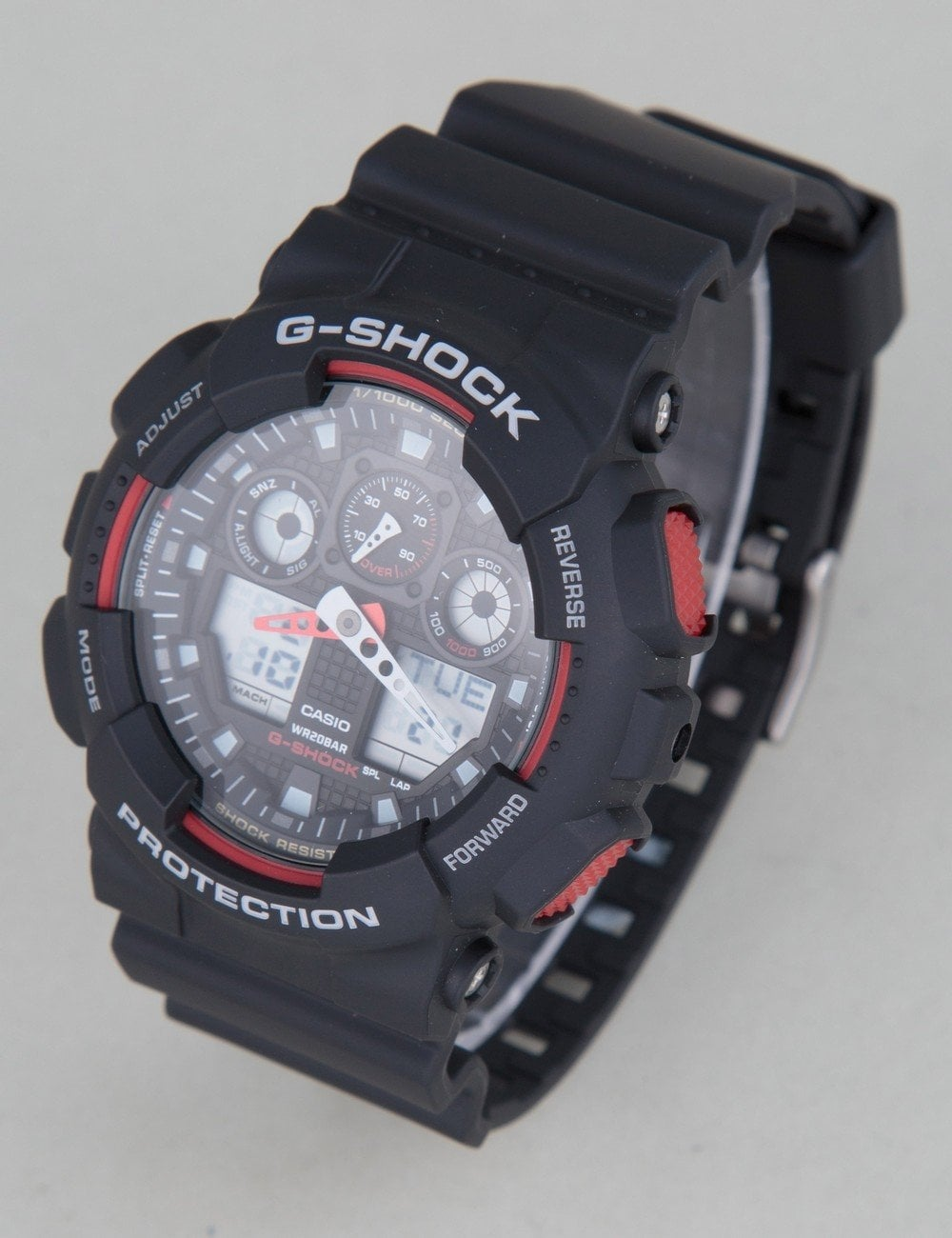 4551ab618df44 G-Shock GA-100-1A4ER Watch - Black Red - Accessories from Fat Buddha Store  UK
