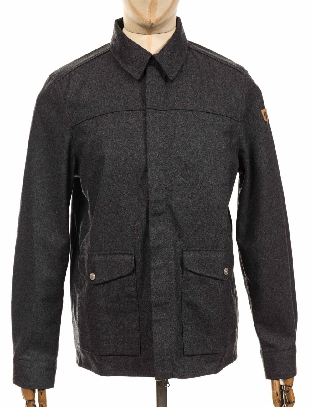 Fjallraven Greenland Re-Wool Shirt Jacket - Grey - Clothing from Fat ... 035a209a53