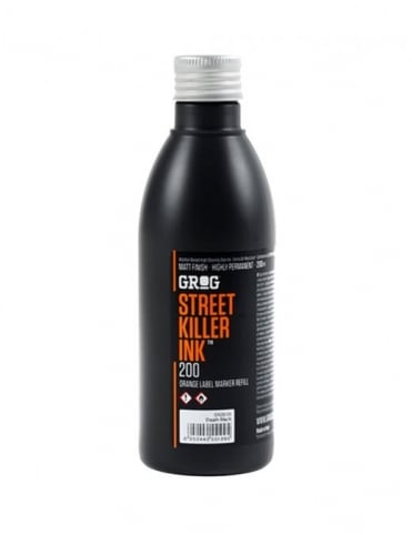 Grog Ink Street Killer Ink Refill 200ml - Death Black