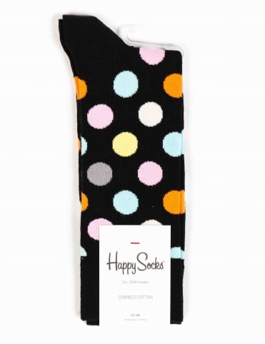 Happy Socks Big Dots Socks - Black/Multi