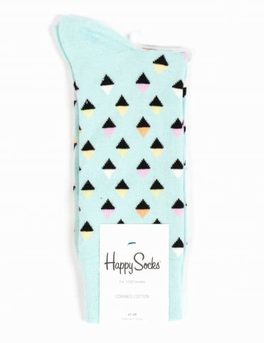 Mini Diamonds Socks - Light Blue