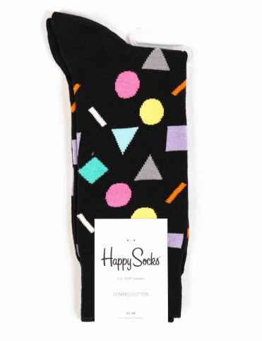 Happy Socks Play Socks - Black/Multi