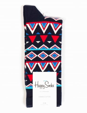 Temple Socks - Blue