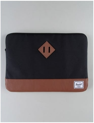"Herschel Supply Co Heritage 13"" Macbook Sleeve - Black/Tan"