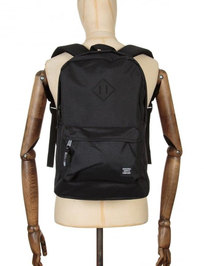 Herschel Supply Co Heritage 21.5L Backpack - Black/Black Rubber