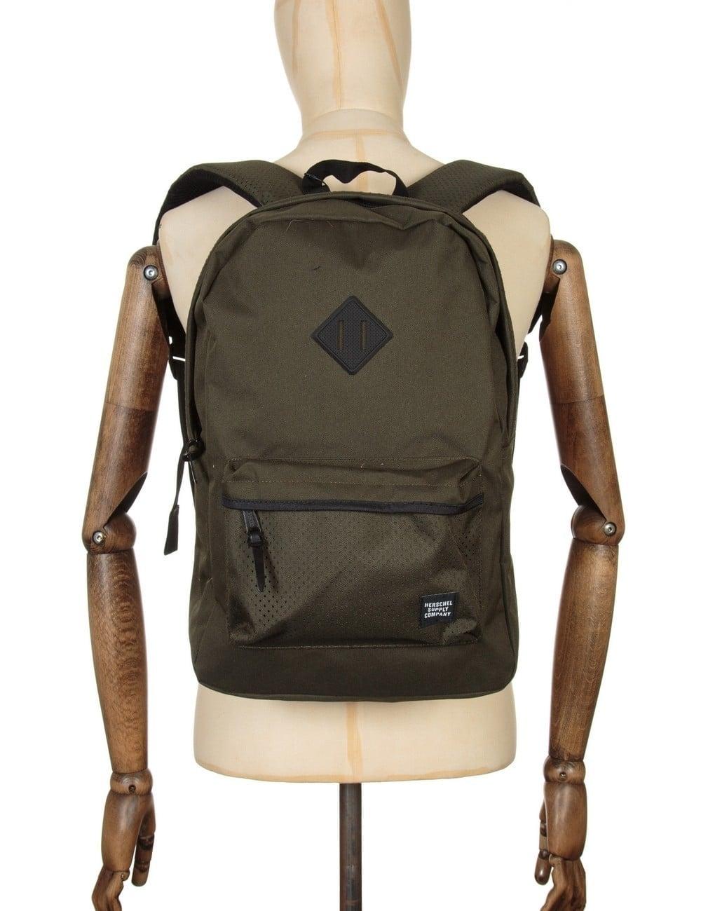 ba66461fdf60 Herschel Supply Co Heritage 21.5L Backpack - Forest Night Black Rubber