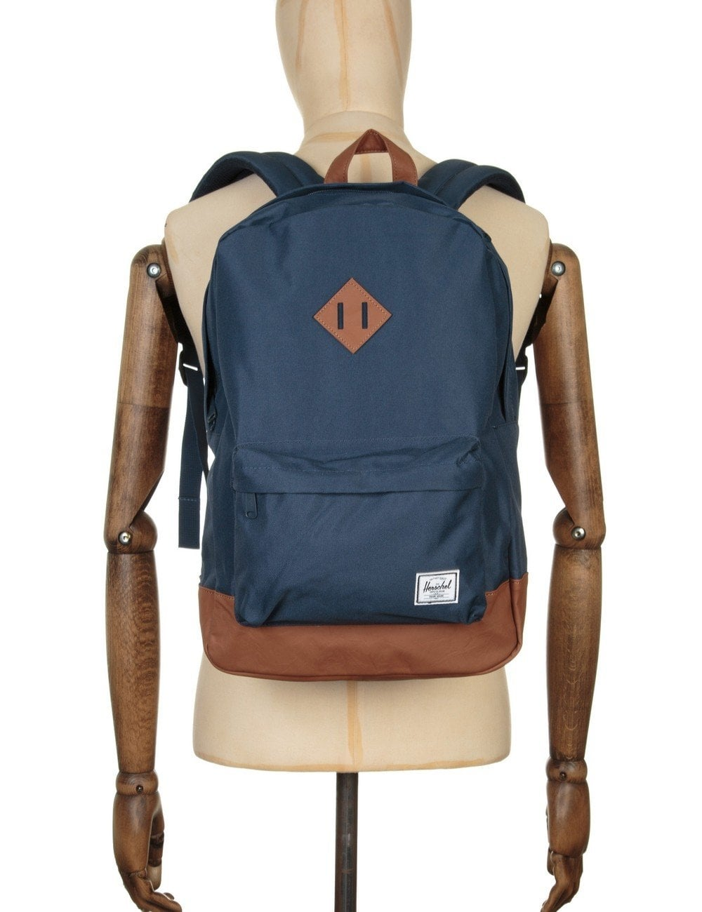 herschel supply co heritage 21 5l backpack navy tan accessories from fat buddha store uk. Black Bedroom Furniture Sets. Home Design Ideas