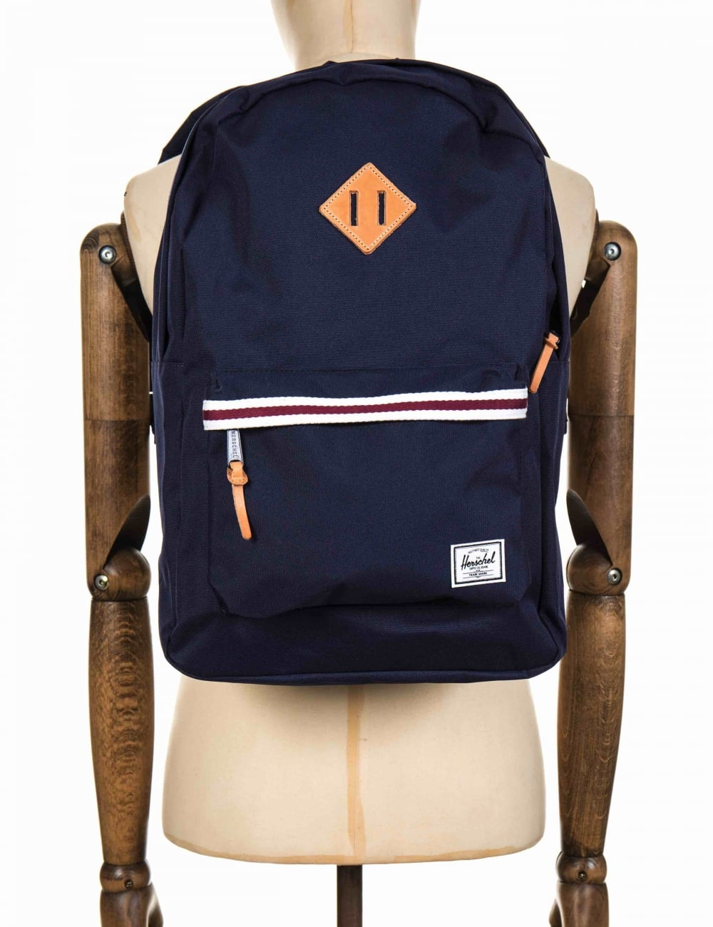 5412a638f38 Herschel Supply Co Heritage 21.5L Backpack - Peacoat White Windsor Wine