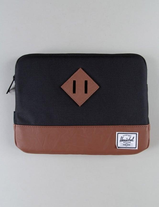 Herschel Supply Co Heritage Ipad Air Sleeve - Black/Tan