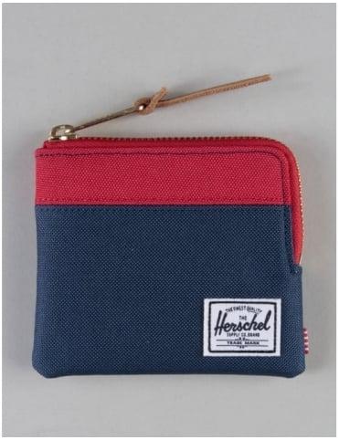 Herschel Supply Co Johnny Zip Wallet - Navy/Red