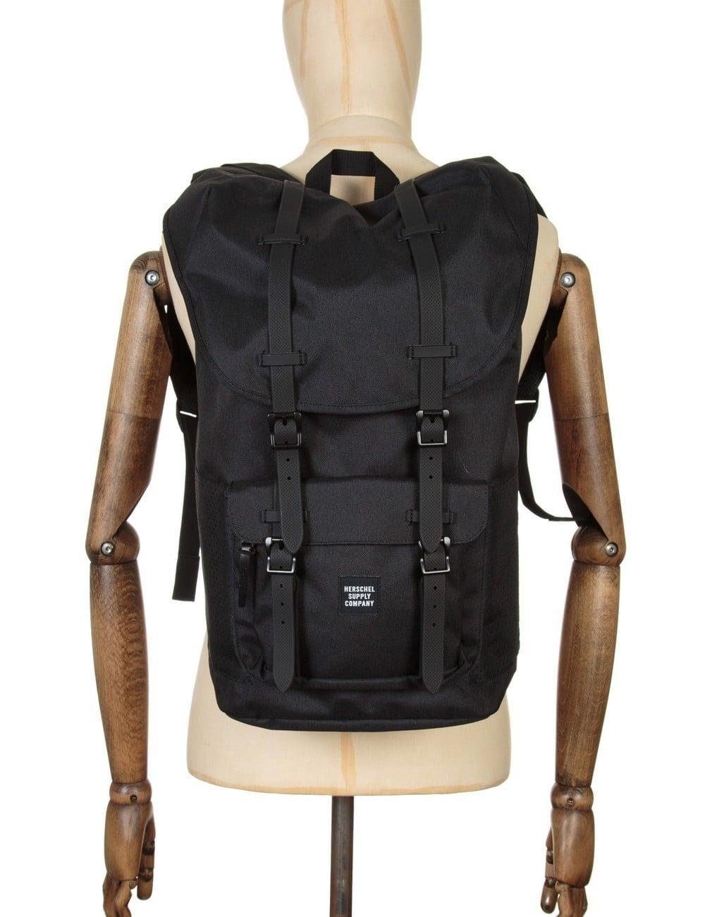 Herschel Supply Co Little America 25L Backpack - Black Black Rubber ... c76ed113cffb5