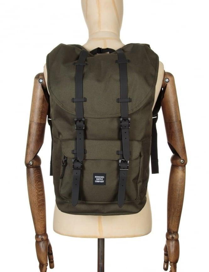 Herschel Supply Co Little America 25L Backpack - Forest Night/Blk Rubber