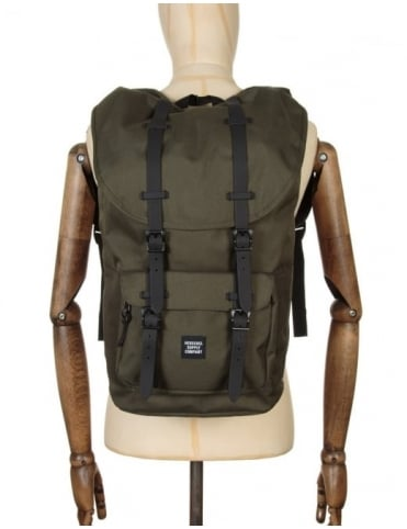 Herschel Supply Co Little America 25L Backpack - Forest Night/Blk Rubber