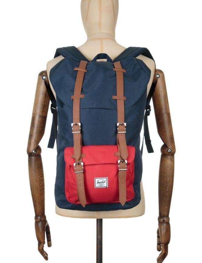 Herschel Supply Co Little America 25L Backpack - Navy/Red