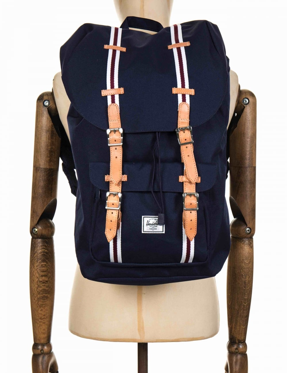 66d8c866e33 Little America Backpack Peacoat White Windsor Wine Leather Offset Collection