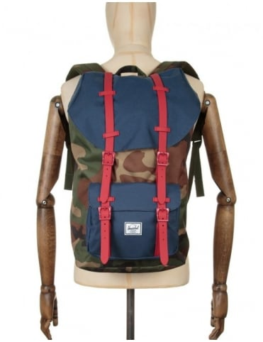 Little America 25L Backpack - Woodland Camo/Navy