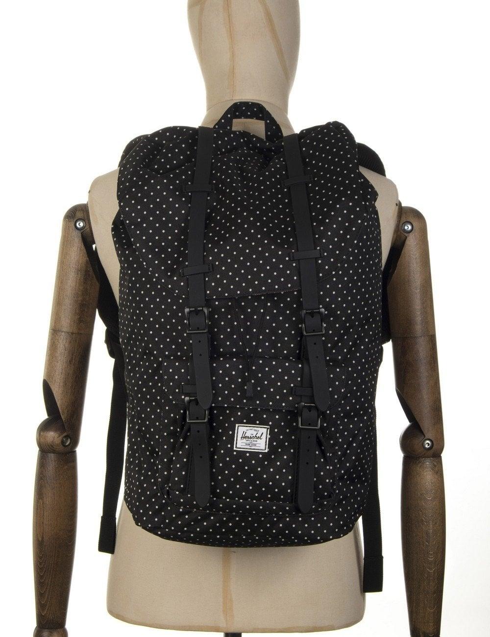 17a8b8c4d56b Herschel Supply Co Little America Backpack - Black Polka Dot ...