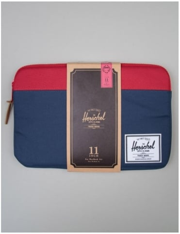 "Herschel Supply Co Macbook Sleeve 11"" - Navy/Red"