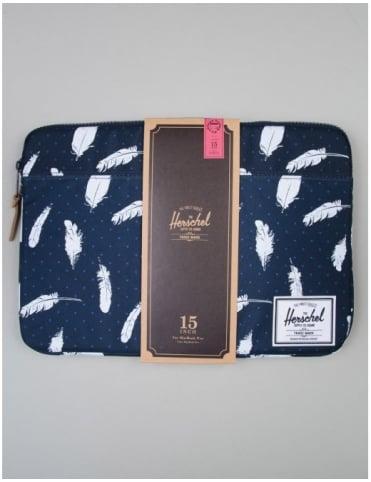 """Herschel Supply Co Macbook Sleeve 15"""" - Feather Print"""