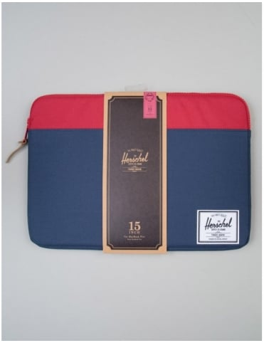 "Herschel Supply Co Macbook Sleeve 15"" - Navy/Red"
