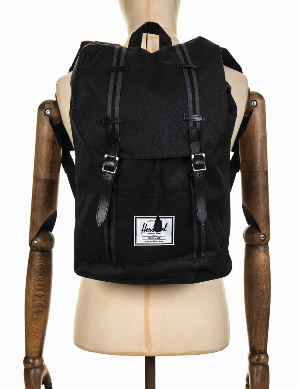 Herschel Supply Co Retreat 19.5L Backpack - Black Dark Shadow Black ... 247e101cf2a99