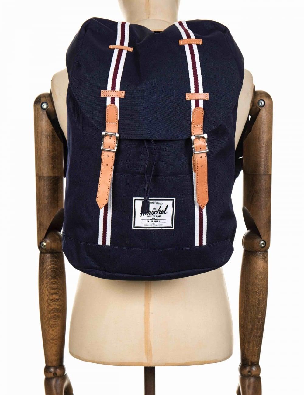 3321370d1c Herschel Supply Co Retreat 19.5L Backpack - Peacoat/White/Windsor Wine