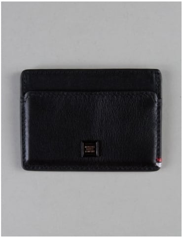 Herschel Supply Co Slip Card Wallet - Blacked Out Leather