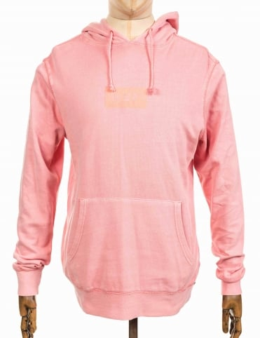 Bar Logo Overdyed Hooded Sweatshirt - Rose