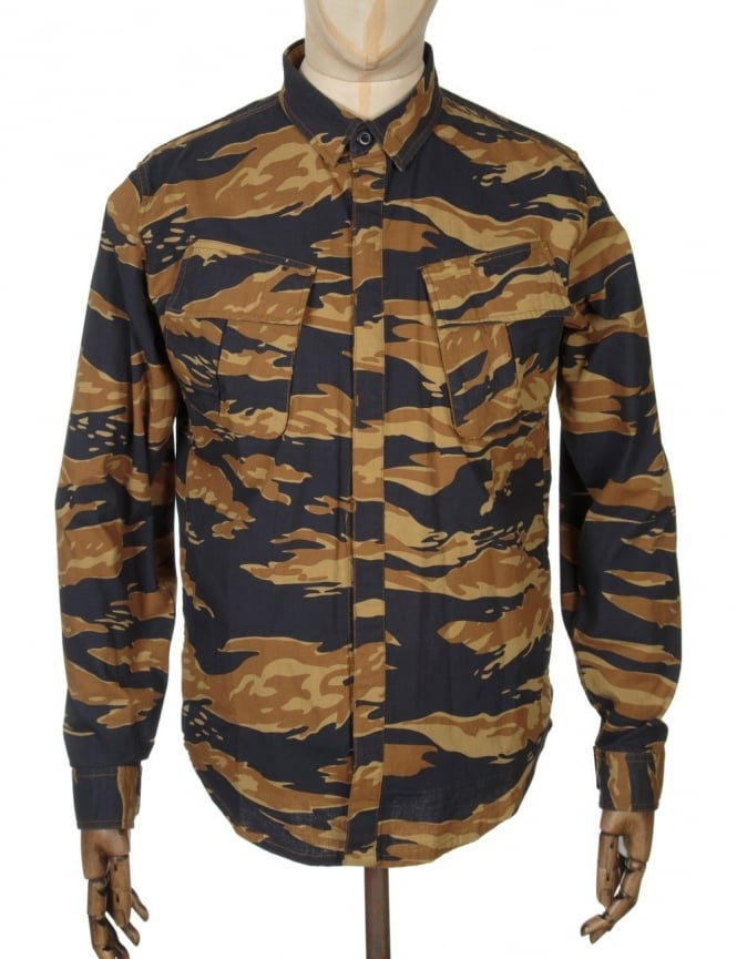Huf BDU Military Shirt - Golden Tiger Camo