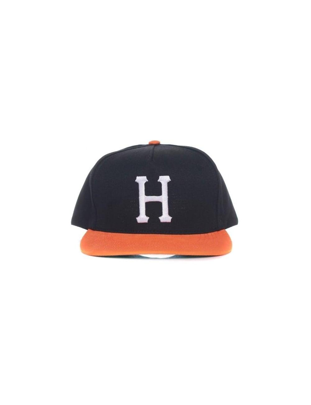 d17927a669b Huf Big H Snapback Hat - Black Orange