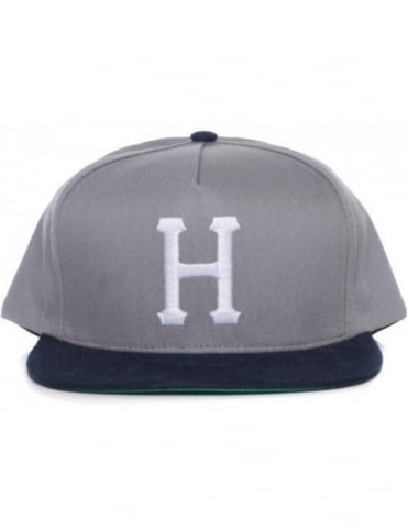 Big H Snapback Hat - Grey/Navy