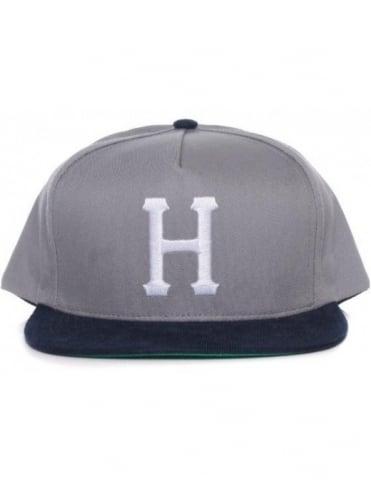 Huf Big H Snapback Hat - Grey/Navy